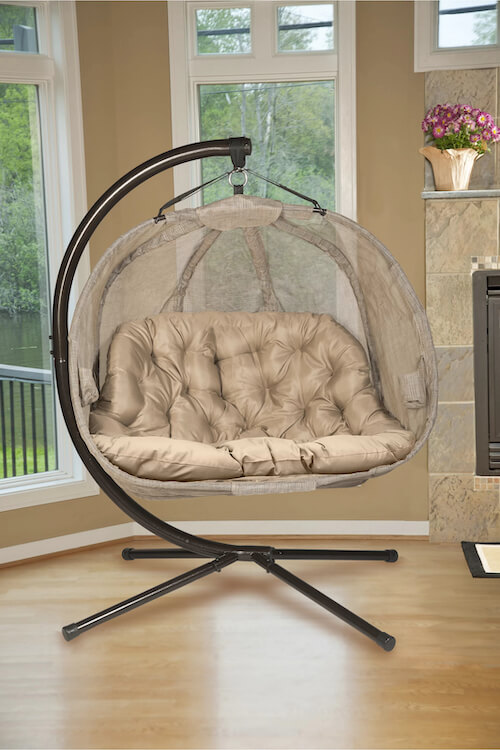 Furkan Double Swing Chair with Stand